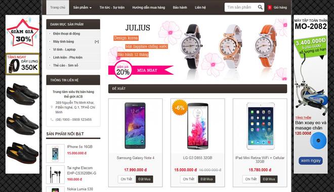 Cực rẻ: Thiết kế website bán hàng chỉ 2.000.000 vnđ