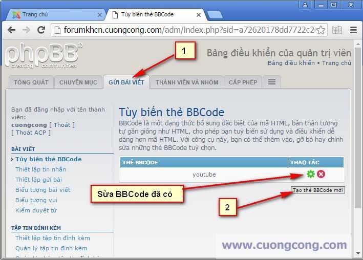 Read more about the article Tạo BBCode trong phpBB để chèn video Youtube vào bài viết trên diễn đàn
