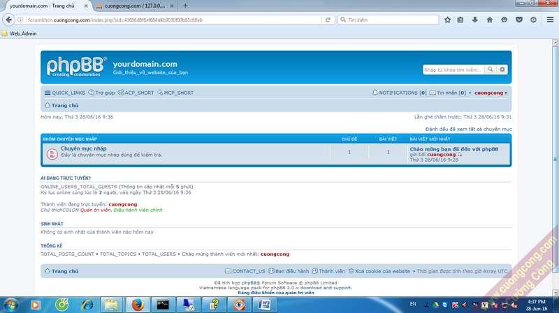 cài đặt diễn đàn phpBB3
