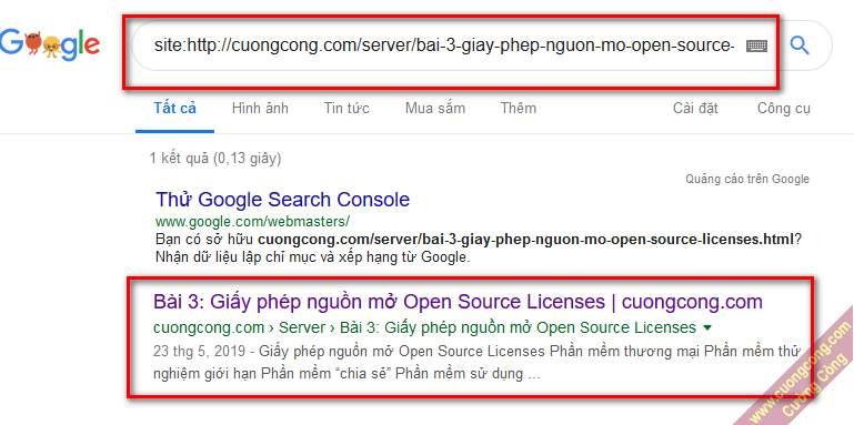 đăng ký bài viết với google