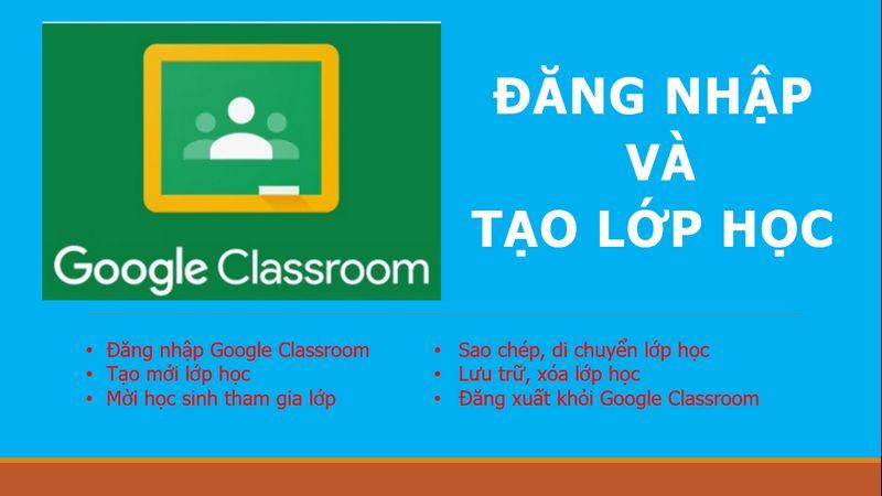 Tạo lớp học trực tuyến Classroom