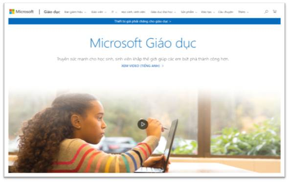 Microsoft giáo dục
