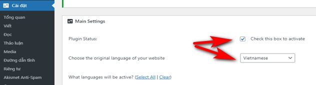 Thêm Google Language Translate cho WordPress