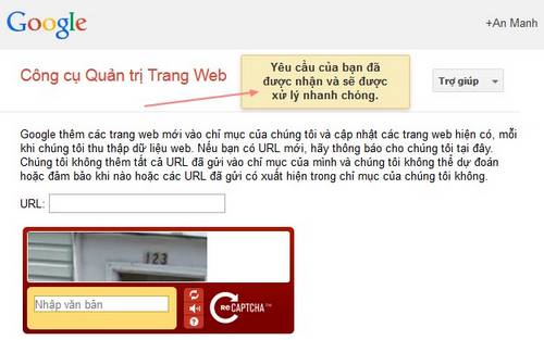 Đăng ký website lên google