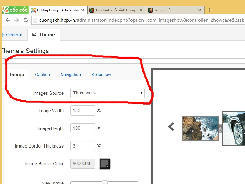 Tạo slider ảnh trong Joomla bằng mod JSN image pro